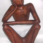 bali-import-yogi-carving, Bali Statue~Meditating Yogi Sculpture