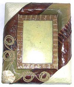banana-leaf-photo-frame, Bananaleaf Craft from Bali