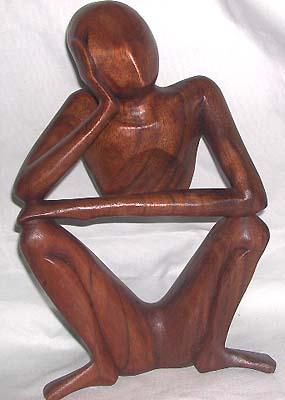 ... artisan figurine, Batik abstract wood carvings, collectible sculpture