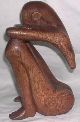 Wood Abstract Man Wholesale Handmade Bali Art Supplier