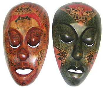 Mask wholesaler, painted carvings manufacturer, handcrafted