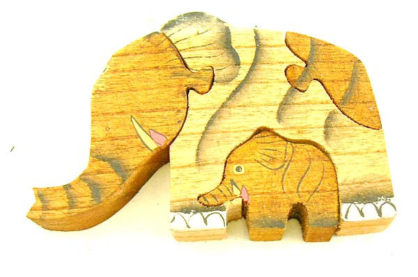 Elephant designed toys, handmade bali crafts, kids wooden toys, children picture puzzles, indonesian artsy game
