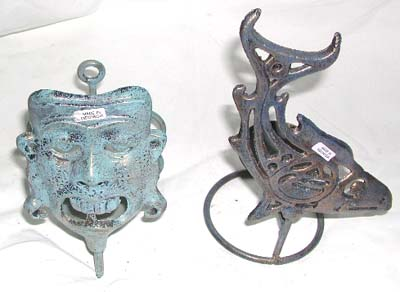 Sculpted candle holder, metal craft ware, indonesian handicraft, iron figurines, candle stands, home decor