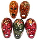 Balinese painted masks, handmade handicrafts, tribal art designs, beautiful cultural gifts, wall decoration, interior crafts