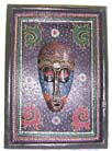 Wood plaques, carvings, painted decoration, indonesian masks, folk art collectibles, artisan gift, wooden plaques