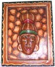 Eastern home handicrafts, plaques, wooden wall engravings, batik mask collectible, country home decor, interior design