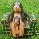 Sculpted pet figures, animal lovers craft, contemporary interior decorations, garden art, bali carvings, handmade crafts