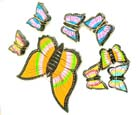 Butterfly shaped mobile, bali designed crib mobile, kids fun crafted decorations, wooden balinese crafts